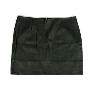 ASOS black faux leather mini skirt